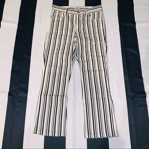 BDG kick flare black and white striped jeans